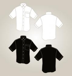 short sleeve botton up shirt vector image