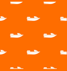 Sports powerboat pattern seamless vector