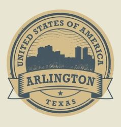 Stamp Arlington vector image