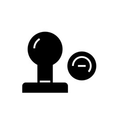stamp icon black sign on vector image vector image