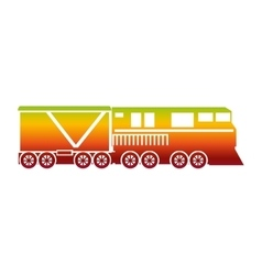 train vehicle isolated icon vector image