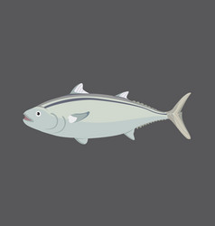 tuna fish in flat style cool vector image vector image