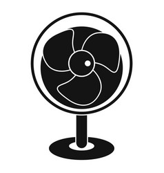 Vintage electric fan icon simple style vector