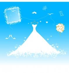 wedding dress for bride vector image