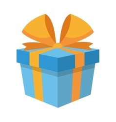 Gift box with bow icon vector