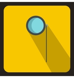 Monocle icon in flat style vector