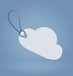 Cloud shaped tag label vector image