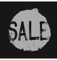 Sale label in a grunge style vector
