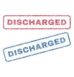 Discharged textile stamps vector