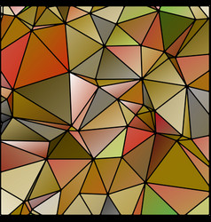 Abstract stained glass in autumn fall colors vector