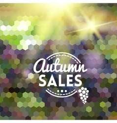 Colorful autumn geometric background card vector image