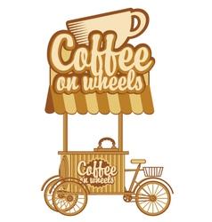 coffee on wheels vector image