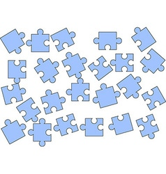 Scattered puzzle pieces vector