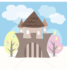 Castle with trees vector