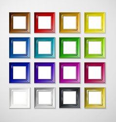 Picture frame design image text vector