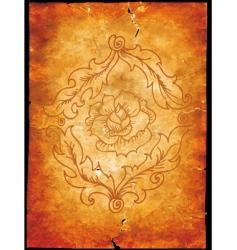 floral grunge design vector image