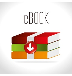 Ebook digital design vector