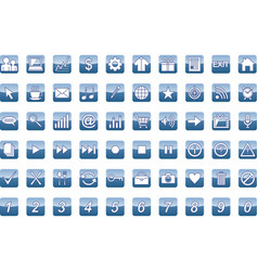 60 universal web icons set vector image