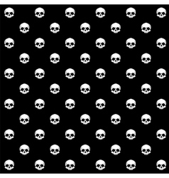 Seamless with skulls vector