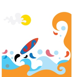 Sea colorful waves 3 vector
