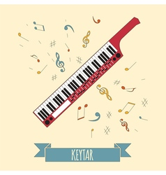 Musical instruments graphic template keytar vector