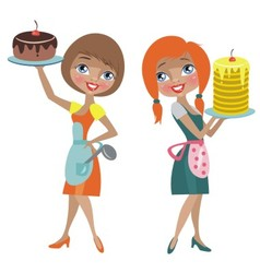 two housewives vector image