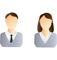 Man and woman user icon vector