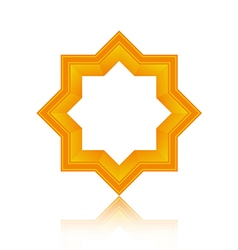 Abstract symmetric geometric icon vector