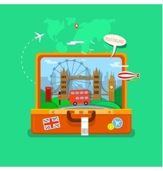 Concept of travel or studying english vector