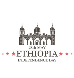 Independence day ethiopia vector