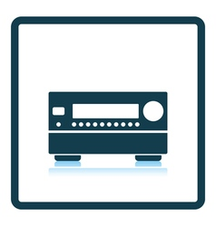 Home theater receiver icon vector