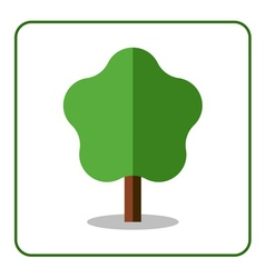Maple linden icon flat tree vector