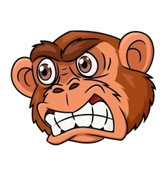 Angry monkey head vector