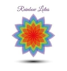 Beautiful rainbow lotus flower vector