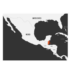 Belize orange marked in political map of central vector