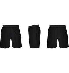 black shorts template vector image