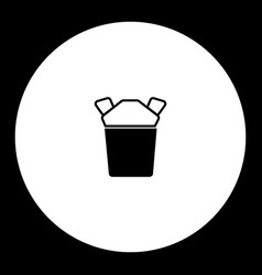 black take away fast food box food vector image