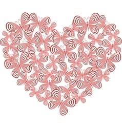 Butterfly heart vector image