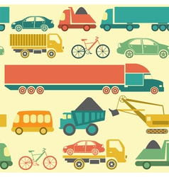 Car service and some types of transportation vector image