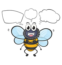 Cartoon Thinking Bee vector image vector image
