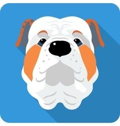 Dog english bulldog icon flat design vector