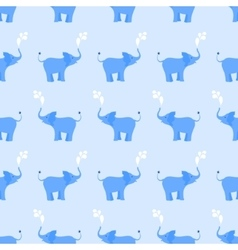 Elephant seamless pattern in blue vector