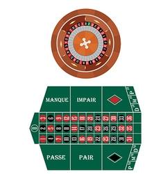Frech roulette vector image