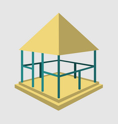 Garden pavilions and garden furniture icon vector