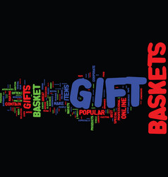 Gift basket advice text background word cloud vector