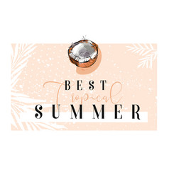 Hand drawn abstract summer time border with vector