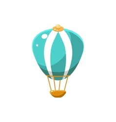 Hot air balloon toy aircraft icon vector