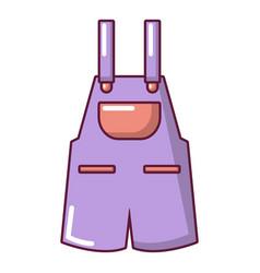 Jumpsuit icon cartoon style vector