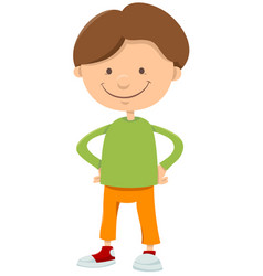 Kid boy cartoon character vector
