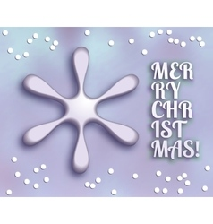 Merry christmas card with snowflake vector image